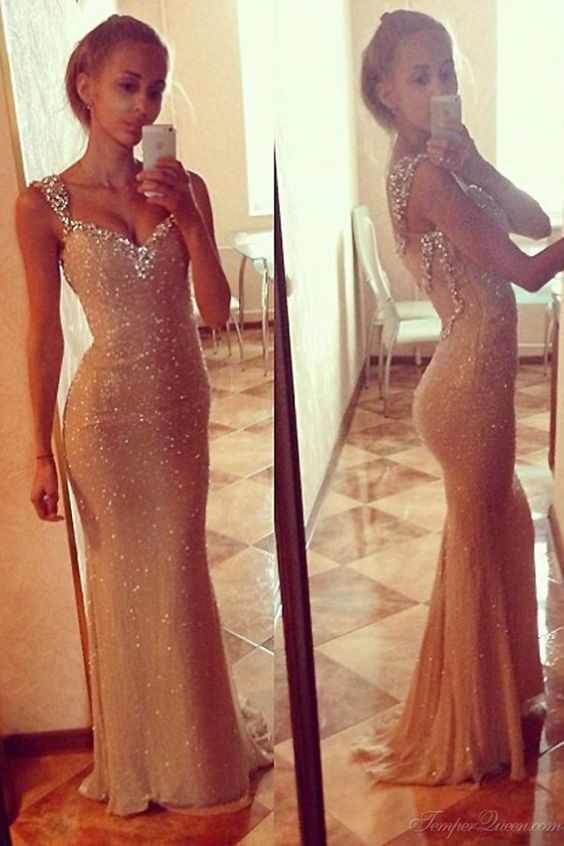 Ivory Bling Bling Evening Dress ,Sexy Bodycon Evening Dresses ...