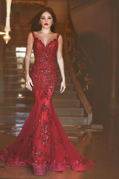 High Quality Prom Dress,Charming Prom Gowns,Mermaid Prom Dress ,Sequins Prom Dress,Appliques Prom Gows,Backless Evening Dress,Sexy Prom Dress,Dress For Prom,Formal Dress 2016